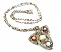 Vintage Celtic Triquetra Style Necklace By Jacobite.